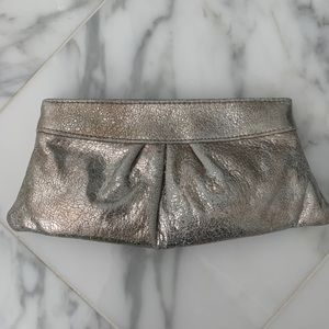 Lauren Merkin silver clutch bag